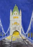 башня bridge1 Стоковые Изображения
