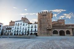 башня caceres Испании bujaco Стоковое фото RF