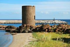 башня castelsardo средневековая стоковые изображения rf