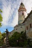Башня Cesky Krumlov замка, чехия Стоковая Фотография