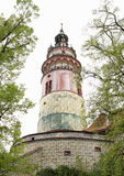 Башня Cesky Krumlov замка Стоковое Изображение