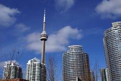 Башня CN внутри к центру города, Торонто, Онтарио, Канада Стоковая Фотография RF