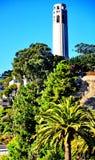 Башня Coit в Сан-Франциско, Калифорнии Стоковая Фотография RF