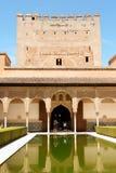 Башня Comares и двор миртов Стоковая Фотография