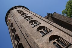 башня copenhagen круглая Стоковые Фотографии RF