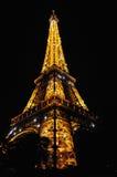 башня eiffel полуночная paris сверкная Стоковые Фото