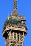 башня eiffel ровная верхняя Стоковые Изображения RF