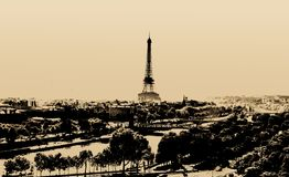 башня eiffel paris Стоковое фото RF