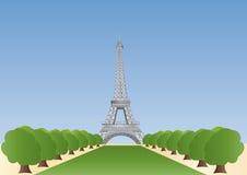 башня eiffel paris Иллюстрация штока
