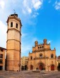Башня Fadri и готский собор на Castellon de Ла Plana Стоковые Фотографии RF