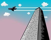 башня flyby Стоковое Изображение