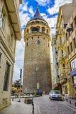 Башня Galata, Стамбул, Турция Стоковые Изображения