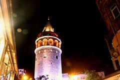 Башня Galata, Beyoglu, Стамбул Турция Стоковые Фотографии RF