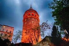 Башня Galata, Beyoglu, Стамбул, Турция стоковое изображение rf