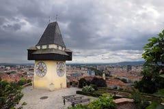 башня graz часов старая Стоковое Фото