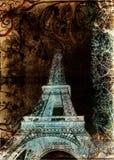 башня grunge eiffel Стоковые Изображения