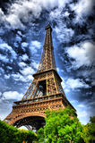 башня hdr eiffel Стоковая Фотография RF