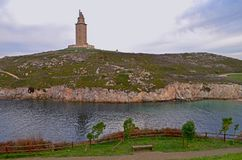 башня hercules Стоковые Фотографии RF