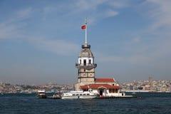 башня istanbul девичая s Стоковые Изображения RF