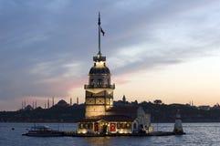 башня istanbul девичая s Стоковое Фото