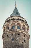 башня istanbul galata индюк Стоковая Фотография