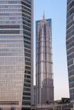 Башня Jinmao в Lujiazui в Шанхае, Китае Стоковые Изображения RF