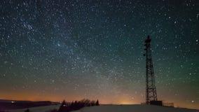 башня 8K в ноче видеоматериал