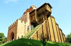 башня kiev строба сражения золотистая Стоковое Фото
