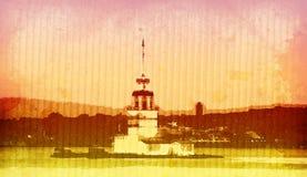 башня kiz istanbul Стоковое фото RF