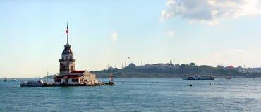 башня leanders istanbul Стоковое Фото