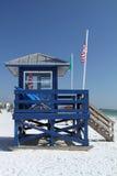 Башня Lifegaurd пляжа Стоковые Фотографии RF