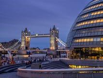 башня london здание муниципалитет моста Стоковая Фотография RF