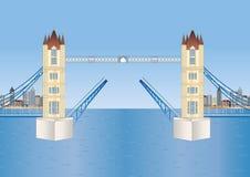 башня london моста открытая Иллюстрация штока