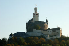 башня marksburg Германии замока Стоковые Изображения