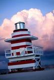 башня miami личной охраны пляжа Стоковые Изображения