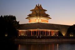 Башня moat Пекин стоковые изображения