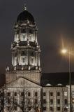 Башня Neoclassicism на ноче Стоковое фото RF