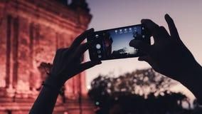 Башня Nhan или Thap Nhan в Phu Yen, Вьетнаме Большее destinaton должно посетить вечером стоковое фото