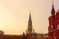 Башня Nikolskaya и исторический музей Стоковое фото RF