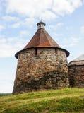 Башня Nikolskaya монастыря Solovetsky стоковые изображения rf