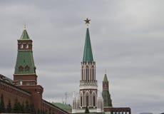 Башня Nikolsky Москвы Кремля стоковые изображения