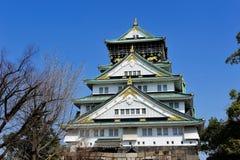 башня osaka замока главная Стоковая Фотография RF