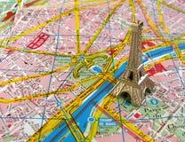 башня paris карты eiffel Стоковые Фотографии RF