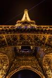 башня paris ночи eiffel Стоковые Фото