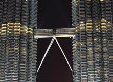башня petronas детали моста Стоковые Фото