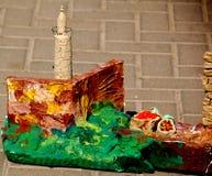 Башня Plasticin Давида Стоковая Фотография RF