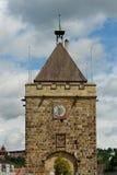 Башня Pliensauturm в городе Esslingen am Неккаре Стоковое Изображение