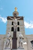 башня pope замока avignon Стоковая Фотография
