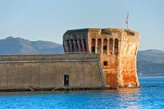 башня portoferraio linguella острова elba Стоковая Фотография