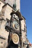 башня prague астрономических часов Стоковая Фотография